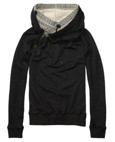 Home Alone Sweater With Double Layer Hood  - Scotch & Soda