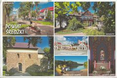 Our first postcard from Poland!  Powiat Sredzki, Sroda District ~ Zaniemysl (Square in the village centre) ~ Koszuty (18th c. manor house, now Sroda Land Museum) ~ Gieca (2nd half of the 12th c. Romanesque church) ~ Sroda Wlkp (Old Market Square) ~ Debno n. Warta (Warta River ferry crossing) ~ Winna Gora (Chapel with Gen. J. H. Dabrowski sarcophagus)  ~ Sorry about the limitations of my English keyboard!   http://www.postcrossing.com/about