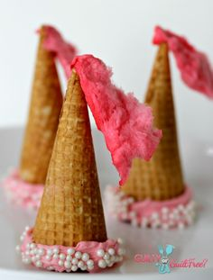 easy ice cream princess hats for a birthday party theme