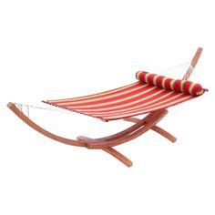 big daddy 2 piece wood arc outdoor hammock  u0026 stand set     red star traders big daddy wood frame hammock set with sunbrella      rh   pinterest