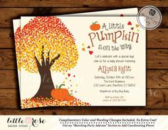 Falling in love invitation - fall wedding shower - bridal shower invite - fall leaves - fall tree - baby shower - printable Fall In Love Bridal Shower, Baby Shower Fall, Fall Baby, Printable Bridal Shower Games, Printable Baby Shower Invitations, Baby Shower Printables, Bridal Shower Centerpieces, Wedding Shower Invitations, Baby In Pumpkin