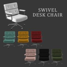 Leo Sims – Swivel Chair for The Sims 4 The Sims 4 Pc, Sims Cc, Chair And Ottoman Set, Swivel Chair, Mods Sims, Muebles Sims 4 Cc, Sims 4 Bedroom, Sims 4 Clutter, Sims 4 Cc Furniture