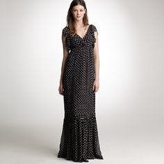 Evelyn dotted long dress