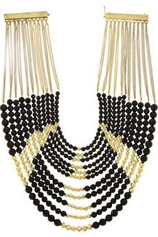 Rosantica Raissa gold-plated onyx necklace | NET-A-PORTER