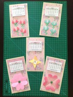 Calendários 2013: origamis e scrapbook