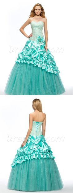 Designed by DressV and brokered exclusively to you by Canagrill Trading Inc. Visit my portal for fantastic discount info. Quinceanera Dresses, Teal Prom Dresses, Strapless Dress Formal, Formal Dresses, Wedding Dresses, Plus Size Gowns, Dress Vestidos, Wedding Veil, Dress Collection