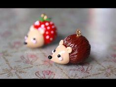 Hedgehog Polymer Clay Charm Tutorial