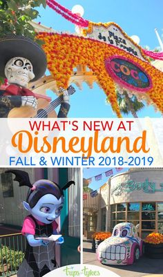 What's New at Disneyland: Fall & Winter 2018 Guide Visiting Disneyland in fall or winder Get the scoop on everything new from Vampirina to expanded Coco and Dia de los Muertos celebrations. Plus, all about Disneyland at Christmas and rumored changes for Disney Vacation Planning, Disney Vacations, Disney Trips, Disney Travel, Family Vacations, Cruise Vacation, Vacation Destinations, Family Travel, Disneyland Secrets