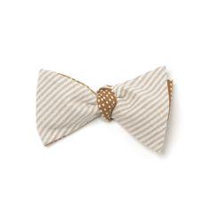 CottonTreats: Thomas Bow Tie Taupe $27