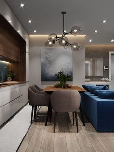 Inspirational ideas about Interior Interior Design and Home Decorating Style for Living Room Bedroom Kitchen and the entire home. Curated selection of home decor products. Apartment Interior, Kitchen Interior, Room Interior, Home Interior Design, Living Room Kitchen, Home Living Room, Living Room Decor, Appartement Design, Dining Room Design