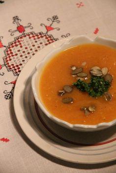 Soupe potiron et lentilles corail