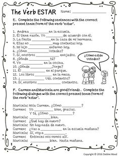 These posters on the irregular verb ESTAR are a great visual teaching tool for beginning Spanish students. This unit includes 17 colored posters and 11 worksheets! Spanish Lessons Online, Spanish Lessons For Kids, Learning Spanish For Kids, Learn Spanish Online, Spanish Lesson Plans, Spanish Language Learning, Learn A New Language, How To Speak Spanish, Teaching Spanish