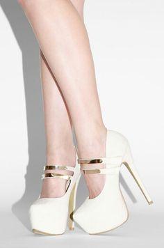 White cute heels