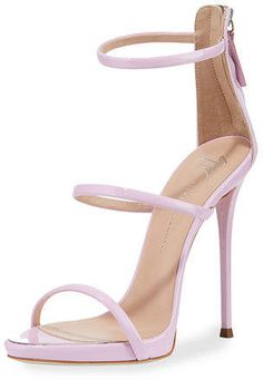 Shop Giuseppe Zanotti women's shoes and heels at Neiman Marcus. Black Stiletto Heels, Nude Shoes, Strappy Sandals Heels, Black High Heels, Stilettos, Shoes Heels, Prom Heels, Black Sandals, Pretty Shoes
