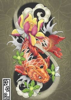 Enjoy curated & Just for Fun and Sharing! koi tattoo flash by tylerrthemesmer on deviantART