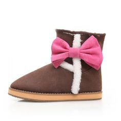 Women's Sweet Style Beautiflu Bow Round Toe Ankle-high Flat Snow Boots