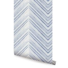 Chevron Lines Navy Peel & Stick Fabric Wallpaper Repositionable - Simple Shapes Wall Decals, Furniture, and Accessories Navy Wallpaper, Lines Wallpaper, Brick Wallpaper, Wallpaper Panels, Geometric Wallpaper, Wallpaper Roll, Peel And Stick Wallpaper, Coastal Wallpaper, Paintable Wallpaper