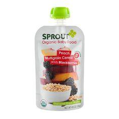 Sprout Peach Multigrain Cereal, Blackberries 4.5 oz (128 g)(pack of 2)