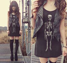 Show me your skin & bones // Dolls Kill (by Ashlei Louise) http://lookbook.nu/look/4199941-Show-me-your-skin-bones-Dolls-Kill