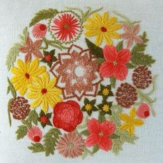 sunshine bouquet crewel kit