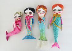 Mermaid Dolls, Mermaids, Art Dolls, Folk Art, Studio, Outdoor Decor, Crafts, Fairy Dolls, Manualidades
