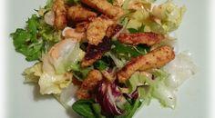 Gemischter Salat mit marinierten Putenbruststreifen - Trial and Error