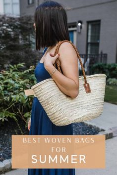The best in woven bags for summer. From jute tote bags, crochet bags and more. Woven Beach Bags, Woven Bags, Jute Tote Bags, Warm Weather Outfits, Straw Tote, Day Bag, Summer Bags, Spring Summer Fashion, Leather Purses