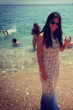 Saída de praia #Vestido com #biquíni