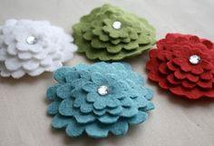 Flower hair barrettes