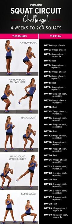 Do you do squats? They are great because there's so many ways to do them! Click to find out our Top 10 Squat Variations to build, sculpt, and lift your butt and give you the curves you want! #RippedNFit by CrisC