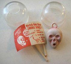 50's Vintage Plastic Smokey Joe Smoking Skull Charm Gumball Prize with Capsule | eBay