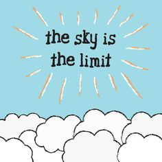 KIDS ROOM POSTER The Sky is the Limit Nursery by PurrfectPrintz