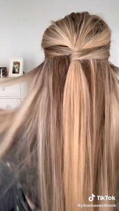 Work Hairstyles, Easy Hairstyles For Long Hair, Cute Up Hairstyles, Hairstyles With Hair Extensions, Scrunched Hairstyles, 7th Grade Hairstyles, Hairstyle For Women, Witchy Hairstyles, Hair Down Hairstyles