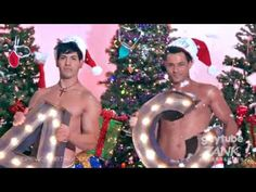 "Andrew Christian Present Hunky Santas in ""Jingle Bells"" Naughty Santa, Andrew Christian, Merry Christmas, Christmas Ornaments, Jingle Bells, Yule, Presents, Holiday Decor, Videos"