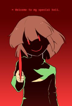 Undertale Day 6: I haven't played as Chara and I don't think I'm going to, but of course she would be my least favourite character for killing all of the ones I love ;_; Although, it would be the player's fault for turning her into this way and not her own so I don't know ;-;