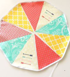 arrow fabric bunting pennant flags wedding party banner photo prop baby nursery