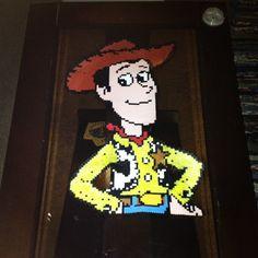 Woody Toy Story perler beads (3x3 pegboards) by kelseyferrel