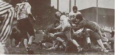 1941 Oregon - Oregon State civil war football game at Hayward Field.   From the 1942 Oregana (University of Oregon yearbook). www.CampusAttic.com