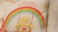 Handmade Care Bears Pillow Sham- Tenderheart Bear. 16 x16 inches, via Etsy.