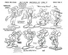 Mickey Mouse Model Sheet ★ || CHARACTER DESIGN REFERENCES | キャラクターデザイン  • Find more artworks at https://www.facebook.com/CharacterDesignReferences & http://www.pinterest.com/characterdesigh and learn how to draw: #concept #art #animation #anime #comics || ★
