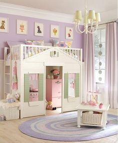 Cottage Bed from Pottery Barn Kids. would LOVE this for my daughters room! Pottery Barn Kids, Girls Bedroom, Bedroom Decor, Bedroom Ideas, Bed Ideas, Dream Bedroom, Bedroom Makeovers, Bedroom Bed, Little Girl Rooms