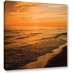 Art Wall Antonio Raggio 'Serene Sunset' Gallery-Wrapped Canvas, Size: 24 x 24, Orange