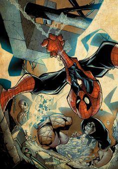 Spider-Man, Battles The Shocker And Hydro-Man!