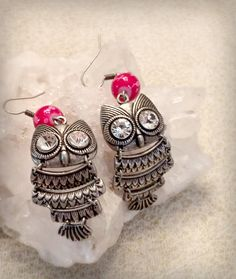 Hey, I found this really awesome Etsy listing at https://www.etsy.com/listing/242952303/little-owl-clarity-optimism-silver
