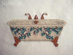 Bañera punto de cruz - antigua