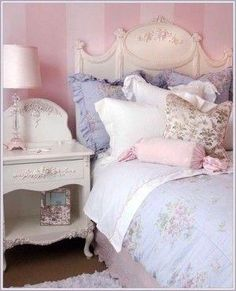Feminine Bedroom.•°¤*(¯`★´¯)*¤° Shabby Chic.•°¤*(¯`★´¯)*¤° by queen