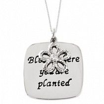 Bloom Where You Are Planted  Inspirational Necklace #InspirationalNecklaces