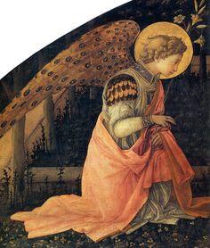 Detail of The Annunciation, Fra Filippo Lippi, 1450-3.
