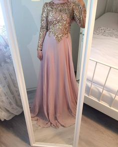 Glam Dresses, Modest Dresses, Elegant Dresses, Dress Outfits, Formal Dresses, Muslim Prom Dress, Muslim Wedding Dresses, Muslim Fashion, Modest Fashion
