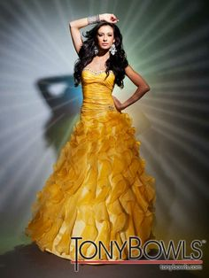 Tony Bowls 2012 Yellow Long Prom Gown 112506